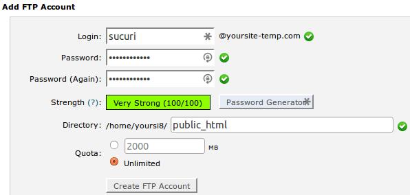 InMotion Add FTP Panel