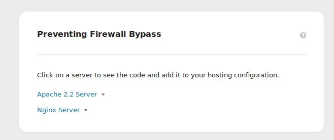Prevent Sucuri Firewall Bypass | Sucuri Docs