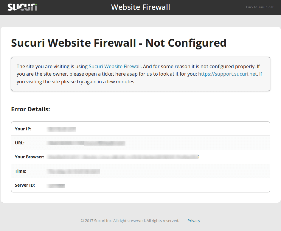 Domain Not Configured