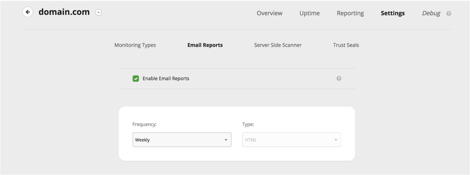 Enable Reports