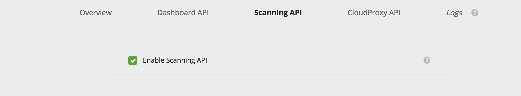 Enable API