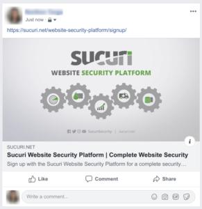 Facebook Link Example