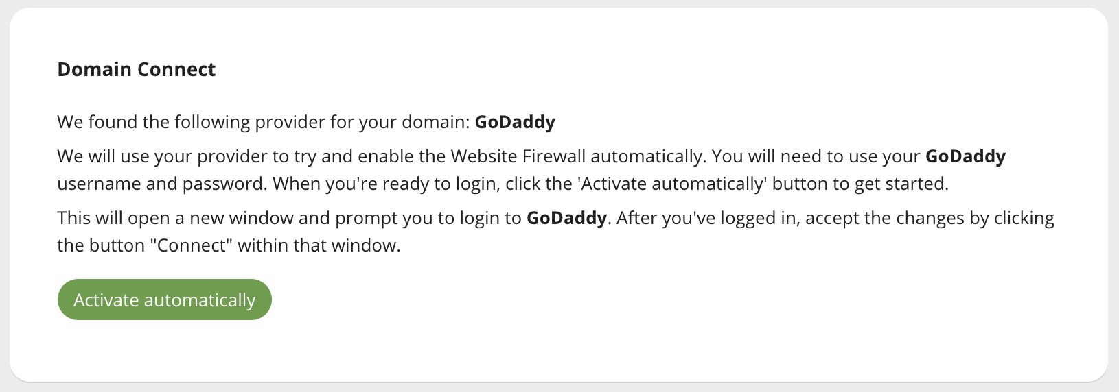 Website Firewall with GoDaddy