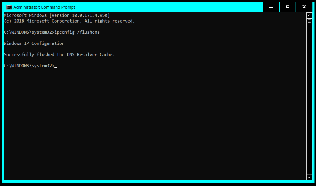 Flush DNS with Command Prompt