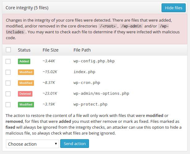 Sucuri WordPress Integrity Check